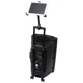 """IBIZA SOUND ISTAND2 - Houder voor iPad & Tablet PC's van 8.9"""" tot 10.4"""" op een port serie"""
