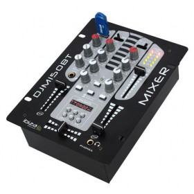 Ibiza Sound DJM150USB-BT 2-Weg / 5-Kanalen Mixer Met USB-MP3, BT - Links voor