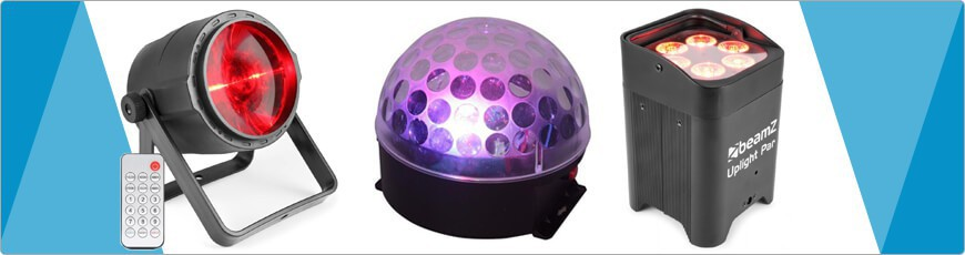 (disco) verlichting op accu nodig? bij dj verkoop vind je ze allemaal