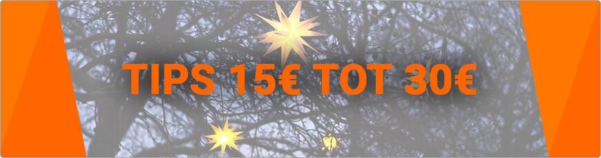 Ben je opzoek naar een super leuk kerst cadeautje? € 15 tot € 30