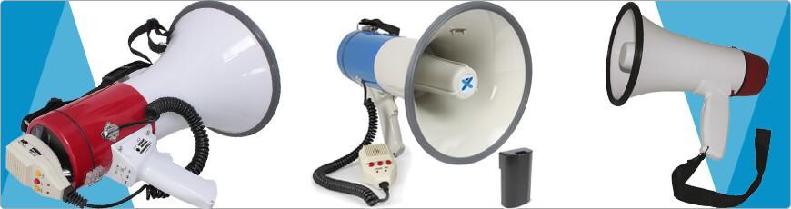 Koop je Megafoon groot of klein voordelig bij dj-verkoop accu mp3 enz.