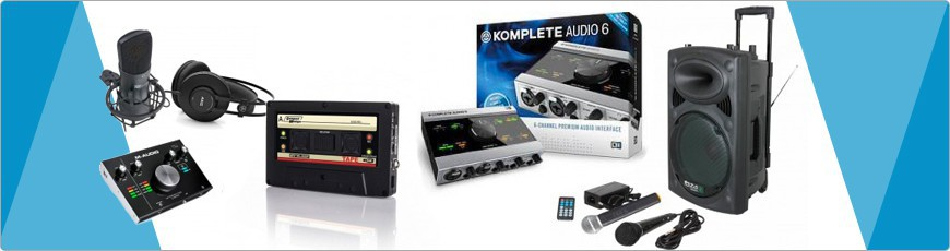 Opname Apparatuur - RMA Quality Sound. Beste service en prijs in dj, disco, zang, licht en Geluid gear.