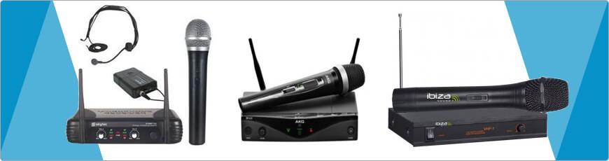 Draadloze VHF Microfoons - DJ-Verkoop.nl / DJ / Studio / Producer / Zang / Licht en Geluid Apparatuur