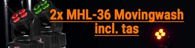 Beamz MHL-36 Movinghead Set van 2 stuks incl tas