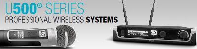 LD Systems U500 series microfoons