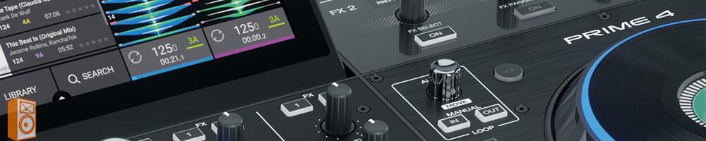 Denon DJ Prime 4 usb media speler scherm en bediening preview
