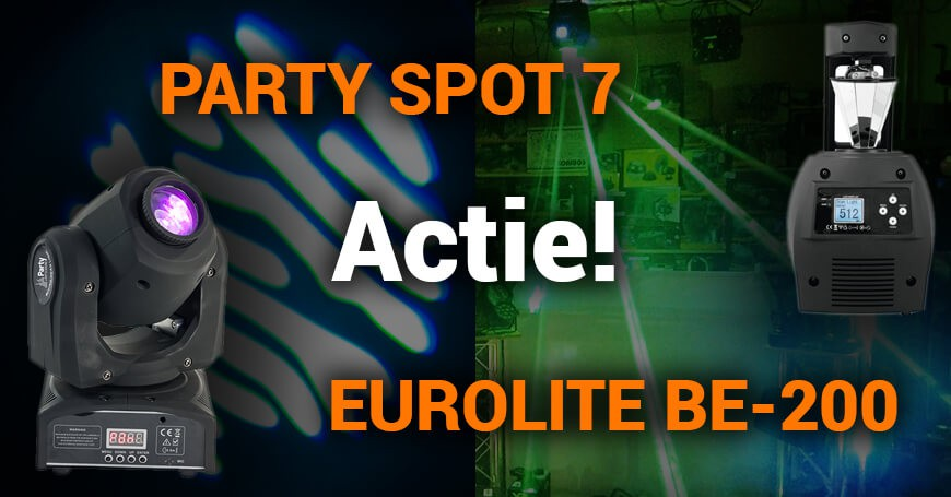 Actie! De Eurolite BE-200 & PARTY Spot 7