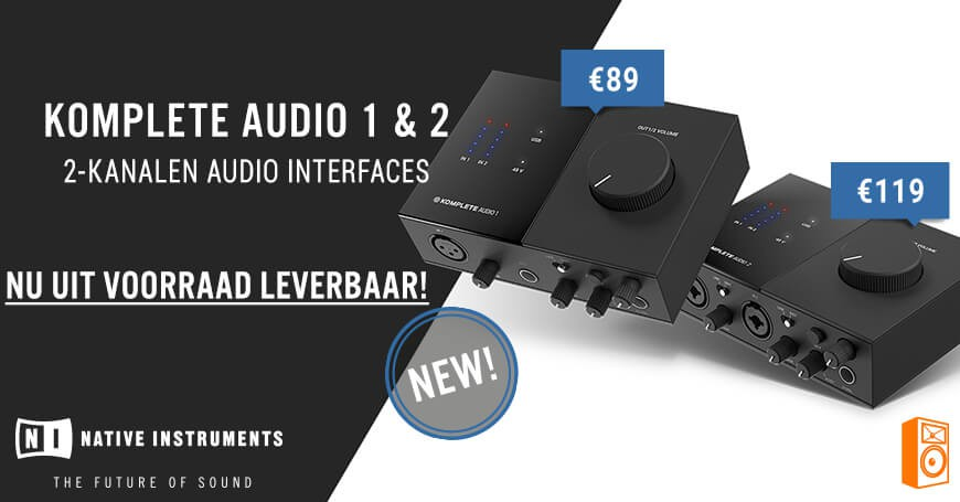 Nieuw! Komplete Audio 1&2 USB Audio interfaces