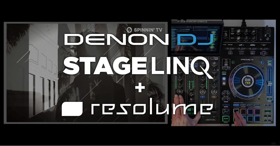 Speel en Synchroniseer al je Video met Resolume software en de Denon DJ Prime producten!