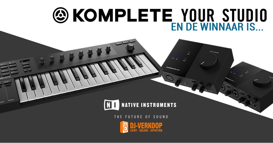 Native Instruments KOMPLETE Your Studio Winnaars!