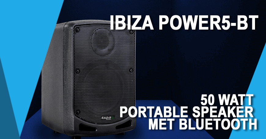 Nieuw! De Ibiza power5-BT portable speaker.