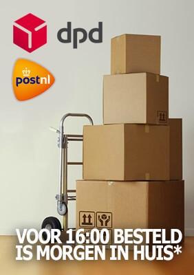 Wij verzenden met DPD en Post nl