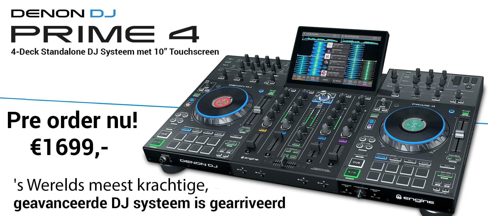 Denon DJ Prime 4 multimedia speler Dj controller