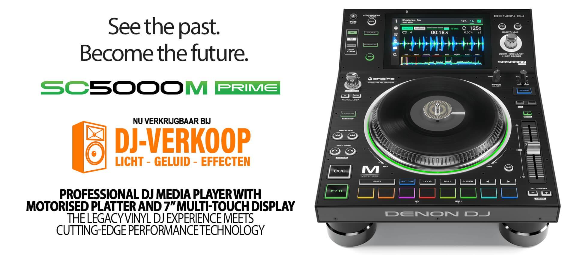 Nieuw! De Denon DJ SC5000M. De ideale mediaspeler voor de vinyl liefhebber