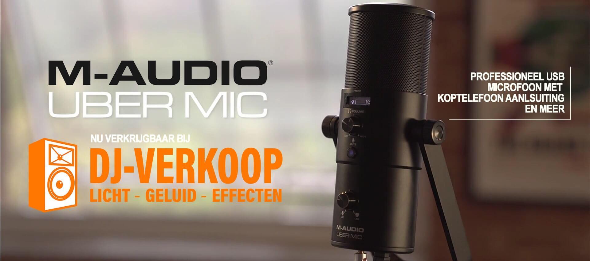 M-AUDIO UBERMIC nu verkrijgbaar bij DJ-Verkoop.nl