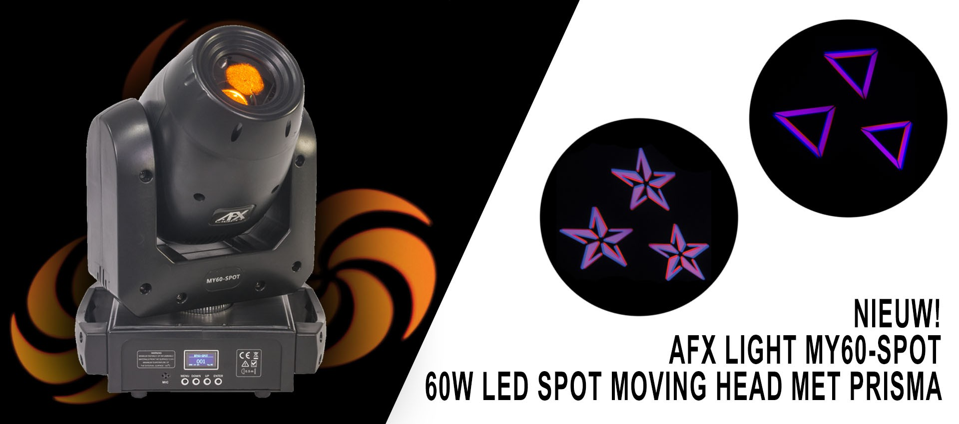 AFX Light MY60-SPOT - 60W led spot moving head met prisma